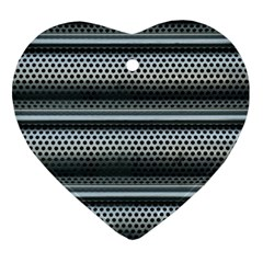 Sheet Holes Roller Shutter Heart Ornament (two Sides) by Nexatart