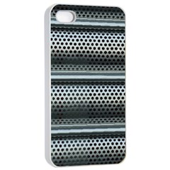 Sheet Holes Roller Shutter Apple Iphone 4/4s Seamless Case (white) by Nexatart