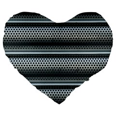 Sheet Holes Roller Shutter Large 19  Premium Heart Shape Cushions by Nexatart