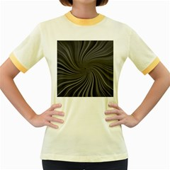 Abstract Art Color Design Lines Women s Fitted Ringer T Shirts