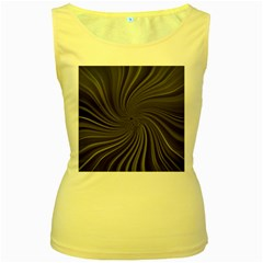 Abstract Art Color Design Lines Women s Yellow Tank Top