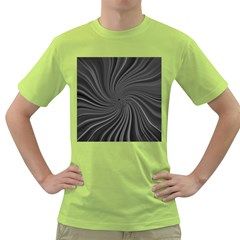 Abstract Art Color Design Lines Green T Shirt