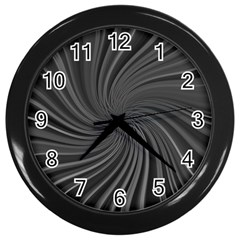 Abstract Art Color Design Lines Wall Clocks (black)