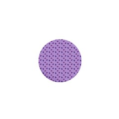 Pattern Background Violet Flowers 1  Mini Buttons by Nexatart