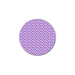 Pattern Background Violet Flowers Golf Ball Marker
