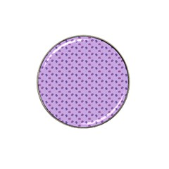 Pattern Background Violet Flowers Hat Clip Ball Marker (4 Pack) by Nexatart