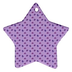 Pattern Background Violet Flowers Star Ornament (two Sides) by Nexatart