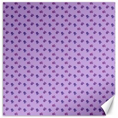 Pattern Background Violet Flowers Canvas 20  X 20   by Nexatart