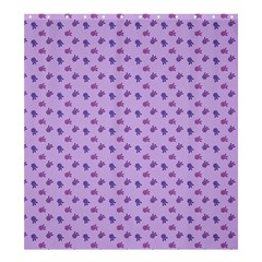 Pattern Background Violet Flowers Shower Curtain 66  X 72  (large)  by Nexatart
