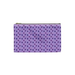 Pattern Background Violet Flowers Cosmetic Bag (small)  by Nexatart