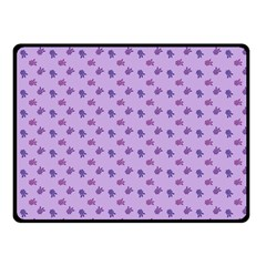 Pattern Background Violet Flowers Fleece Blanket (small)
