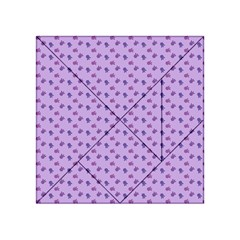Pattern Background Violet Flowers Acrylic Tangram Puzzle (4  X 4 )