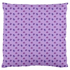 Pattern Background Violet Flowers Large Cushion Case (two Sides) by Nexatart