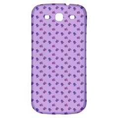 Pattern Background Violet Flowers Samsung Galaxy S3 S Iii Classic Hardshell Back Case by Nexatart
