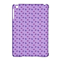 Pattern Background Violet Flowers Apple Ipad Mini Hardshell Case (compatible With Smart Cover) by Nexatart