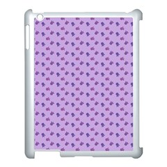 Pattern Background Violet Flowers Apple Ipad 3/4 Case (white) by Nexatart