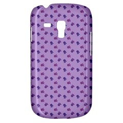 Pattern Background Violet Flowers Galaxy S3 Mini by Nexatart