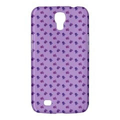 Pattern Background Violet Flowers Samsung Galaxy Mega 6 3  I9200 Hardshell Case by Nexatart