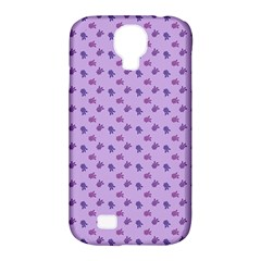 Pattern Background Violet Flowers Samsung Galaxy S4 Classic Hardshell Case (pc+silicone) by Nexatart