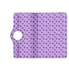 Pattern Background Violet Flowers Kindle Fire Hdx 8 9  Flip 360 Case