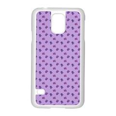 Pattern Background Violet Flowers Samsung Galaxy S5 Case (white) by Nexatart