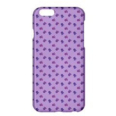 Pattern Background Violet Flowers Apple Iphone 6 Plus/6s Plus Hardshell Case