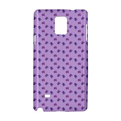 Pattern Background Violet Flowers Samsung Galaxy Note 4 Hardshell Case