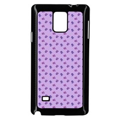 Pattern Background Violet Flowers Samsung Galaxy Note 4 Case (black)