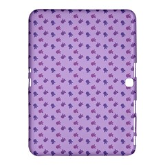 Pattern Background Violet Flowers Samsung Galaxy Tab 4 (10 1 ) Hardshell Case