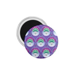 Background Floral Pattern Purple 1 75  Magnets by Nexatart