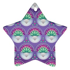 Background Floral Pattern Purple Ornament (star)