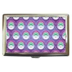 Background Floral Pattern Purple Cigarette Money Cases by Nexatart