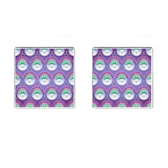 Background Floral Pattern Purple Cufflinks (square)
