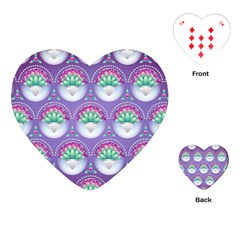 Background Floral Pattern Purple Playing Cards (heart)