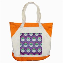 Background Floral Pattern Purple Accent Tote Bag by Nexatart
