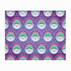 Background Floral Pattern Purple Small Glasses Cloth (2 Side)
