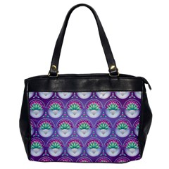 Background Floral Pattern Purple Office Handbags by Nexatart