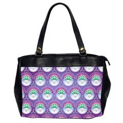 Background Floral Pattern Purple Office Handbags (2 Sides)  by Nexatart