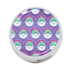 Background Floral Pattern Purple 4 Port Usb Hub (one Side)