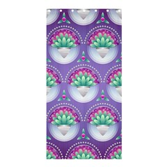 Background Floral Pattern Purple Shower Curtain 36  X 72  (stall)