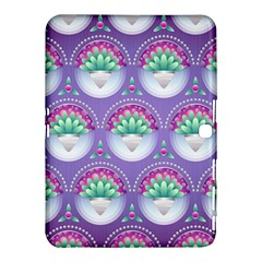 Background Floral Pattern Purple Samsung Galaxy Tab 4 (10 1 ) Hardshell Case