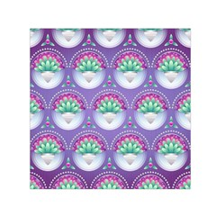 Background Floral Pattern Purple Small Satin Scarf (square) by Nexatart