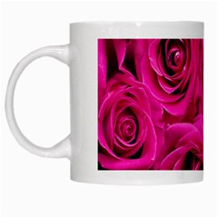 Pink Roses Roses Background White Mugs by Nexatart