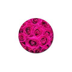 Pink Roses Roses Background Golf Ball Marker by Nexatart