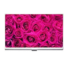 Pink Roses Roses Background Business Card Holders by Nexatart