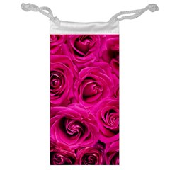 Pink Roses Roses Background Jewelry Bag by Nexatart