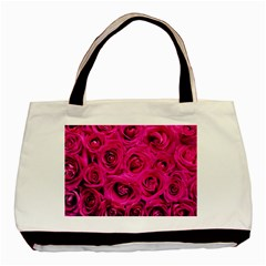 Pink Roses Roses Background Basic Tote Bag by Nexatart