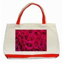 Pink Roses Roses Background Classic Tote Bag (red) by Nexatart