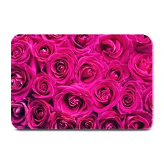Pink Roses Roses Background Plate Mats by Nexatart