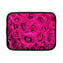 Pink Roses Roses Background Netbook Case (small)  by Nexatart